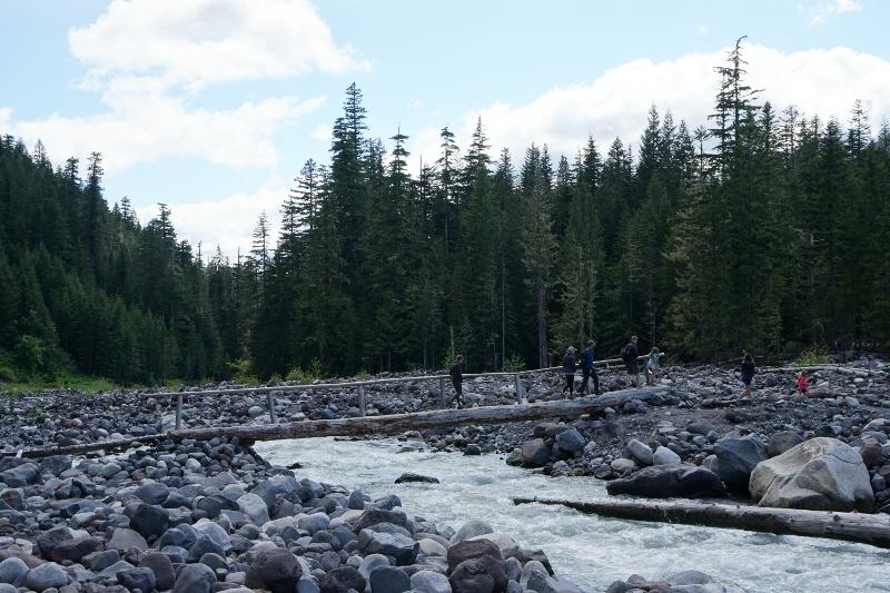 Mt. Rainier 雷尼爾山 Longmire Cater Falls Trail